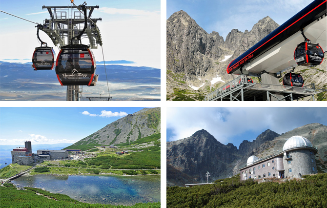 Cableway trip to Skalnate pleso